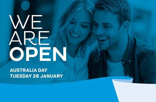 We're open this Australia Day!