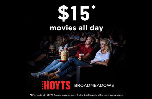 $15* Hoyts Movie Tickets