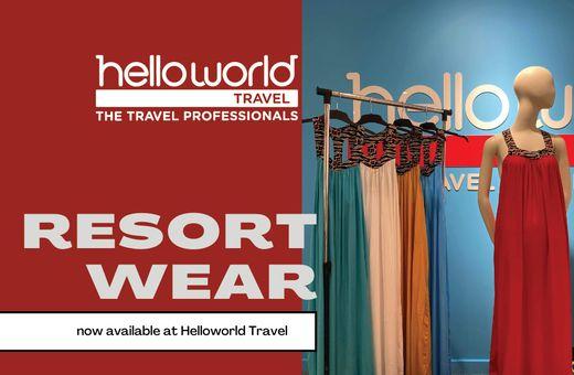 Resort Wear now at Helloworld Travel