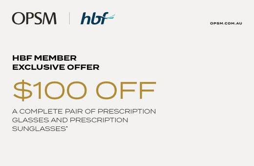 HBF Members Exclusive Offer at OPSM