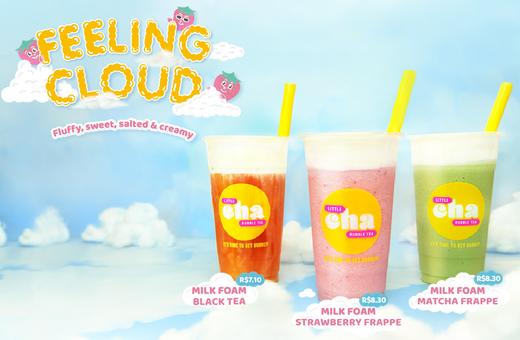 Introducing Feeling Cloud Milk Foam at Little Cha