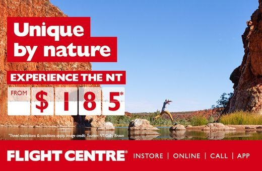 Experience the NT with Flight Centre Offers