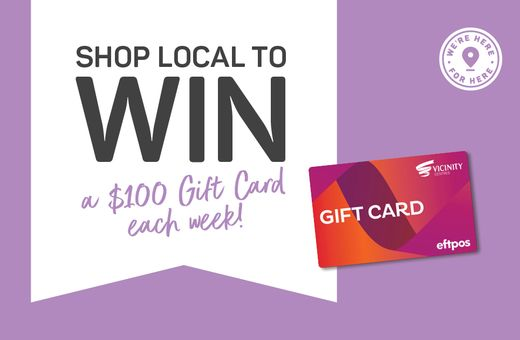 Shop Local To Win A $100 Gift Card!