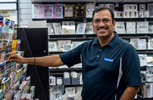 Meet Uresh, proud owner of Canning Vale Newsagency