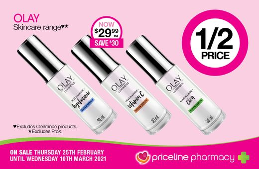 Priceline Pharmacy's February Catalogue Specials