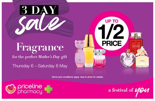 Priceline Pharmacy's 3-Day May Sale