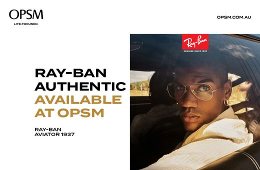 Ray-Ban Authentic Frame and Lenses from $369* at OPSM
