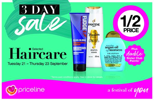 Priceline's 3-Day Haircare Sale