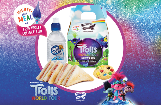 Trolls World Tour Take Over at Muffin Break