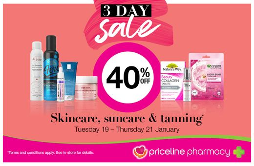 Priceline Pharmacy's 3-Day Sale