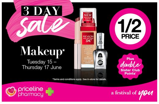 Priceline Pharmacy's 3-Day Sale