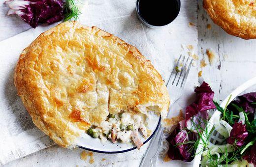 Creamy Fennel, Leek & Chicken Pies