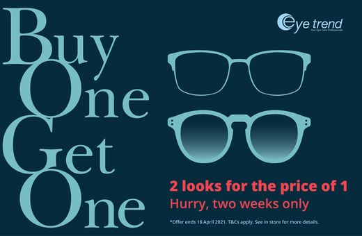 Don't miss Eye Trend's BOGO Sale