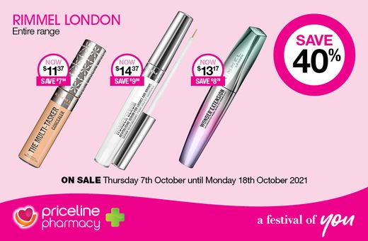 Save 40% off L'Oréal skincare & makeup at Priceline Pharmacy