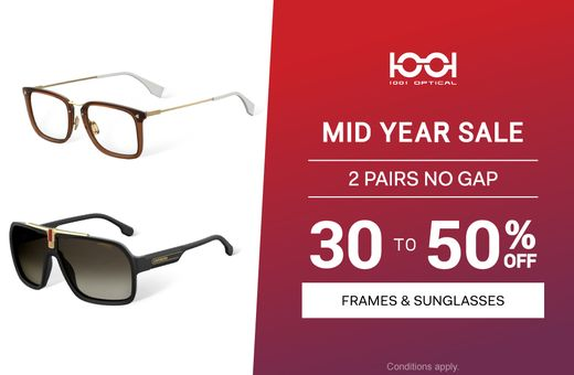 Don't miss 1001 Optical's Mid Year Sale