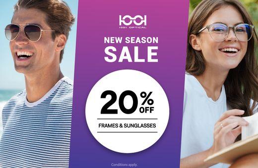 Don't miss 1001 Optical's New Season Sale