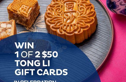 Win 1 of 2 $50 Tong Li Gift Cards