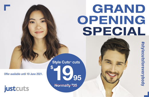 Just Cuts Grand Opening Special