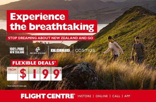 Experience New Zealand with Flight Centre
