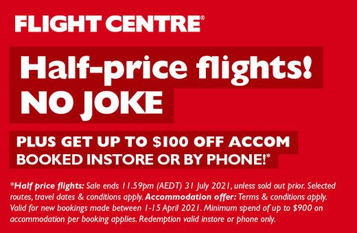 Flight Centre's Half Price Flights