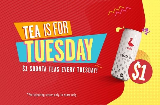 $1 Tea Tuesdays