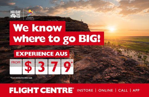 Flight Centre x Tourism Australia
