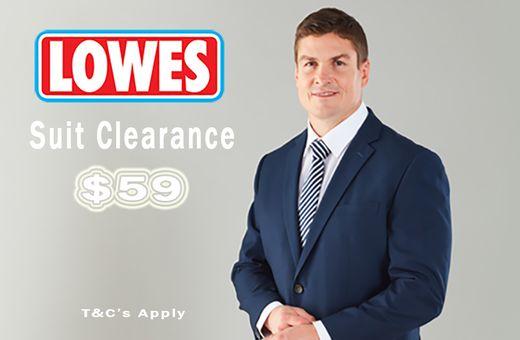 Lowes Suit Clearance Sale