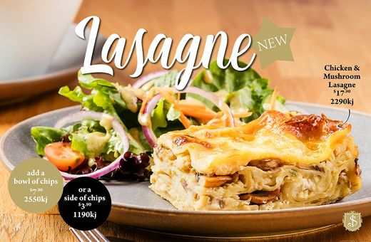 Shingle Inn Chicken & Mushroom Lasagne