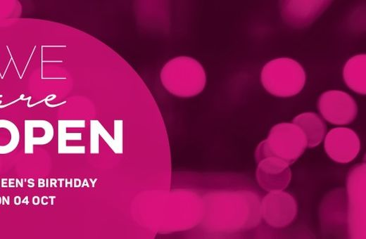 We are open Queen's Birthday