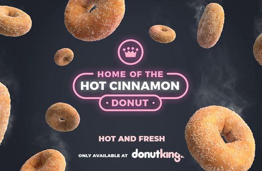Donut King - Home of the Hot Cinnamon Donuts