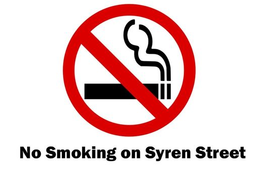 Smoke Free Zone Syren Street