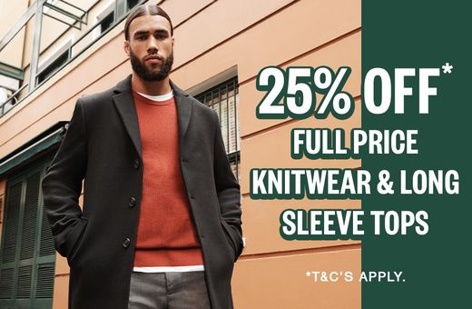 Johnny Bigg 25% off Full Price Knitwear and Long Sleeve Tops*