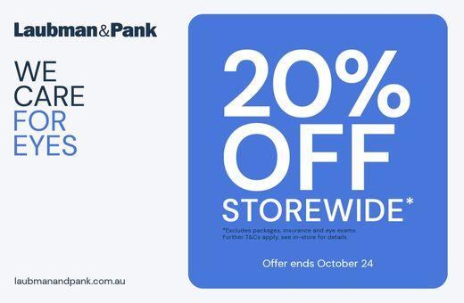 20% Off Storewide at Laubman & Pank
