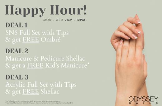 Odyssey Nails Happy Hour