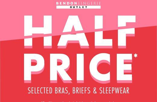 Half Price Selected Bras, Briefs & Sleepwear