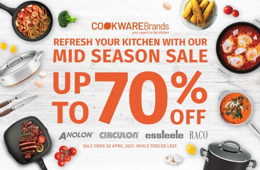 Cookware Brands Up to 70% Off Sale