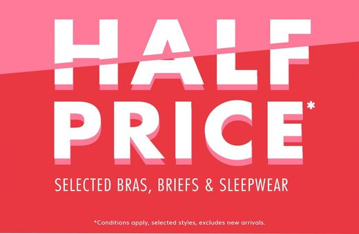 Bendon's Half Price Lingerie Sale