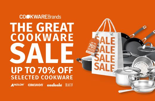 The Great Cookware Sale up to 70% selected Cookware