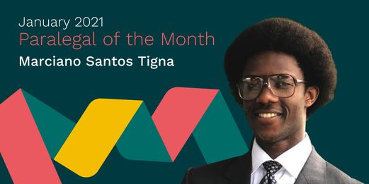Marciano Tigna Paralegal of the Month