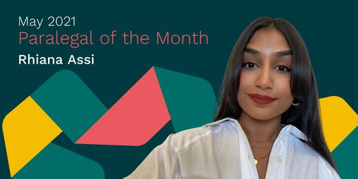 Rhiana Assi - paralegal of the month