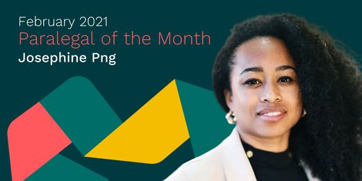 February '21 Paralegal of the Month: Josephine Png