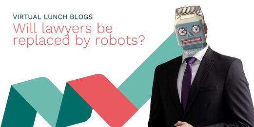 A lawyer with a robot's head