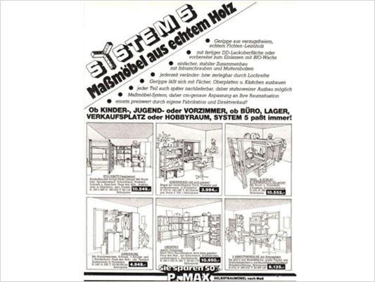 P.MAX Broschüre aus den 1980ern.
