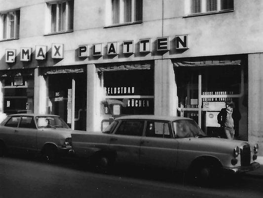 P.MAX Platten Geschäft in den 1960er Jahren.