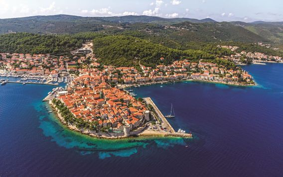 aerial angle of coast in dubrovnik croatia