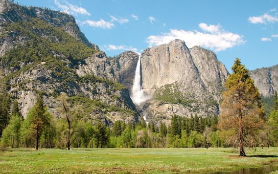yosemite falls during the day in yosemite national park