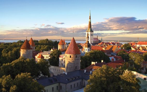 tallinn city view in estonia