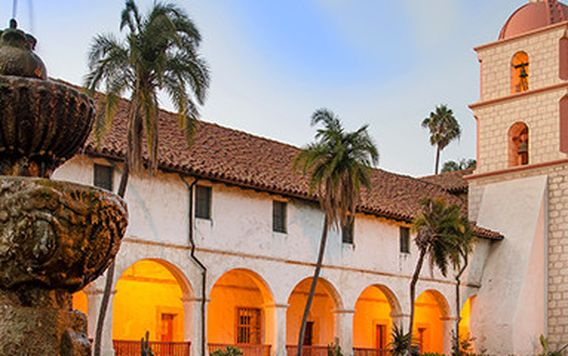 old mission in santa barbara california