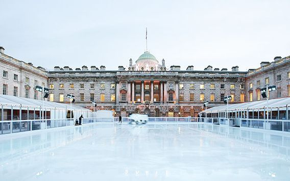 somerset house rink in london england