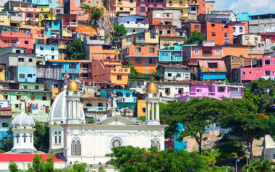bright colorful houses in guayaquil ecuador